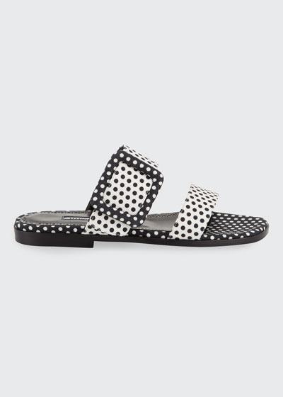 Tituba Flat Polka-Dot Buckle Slide Sandals
