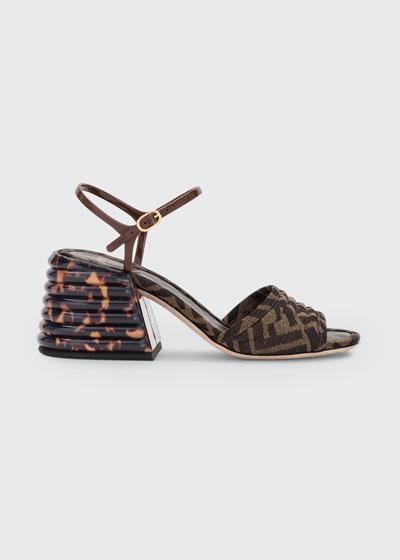 FF Block-Heel Sandals