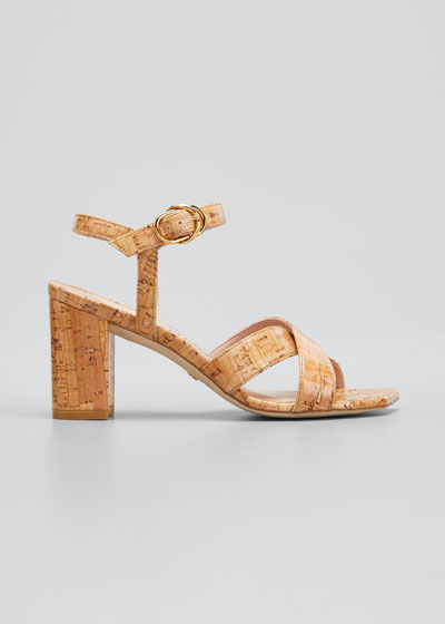 Analeigh Easy Cork Ankle-Strap Sandals