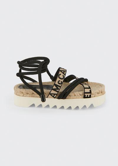 Logo-Web Ankle-Wrap Sandals