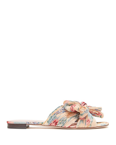 Daphne Knotted Bow Slide Sandals