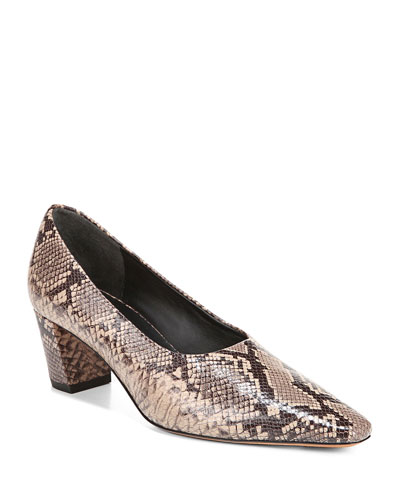 Ania High-Cut Snake-Print Pumps