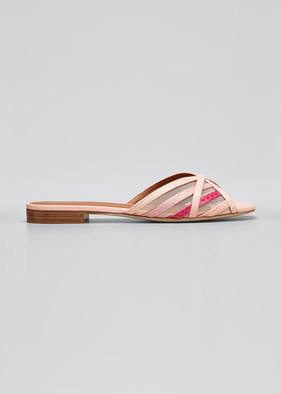 Pim Multi-Striped Mesh Sandals