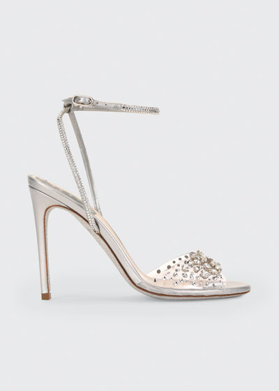 105mm Strass Shimmery Cocktail Sandals
