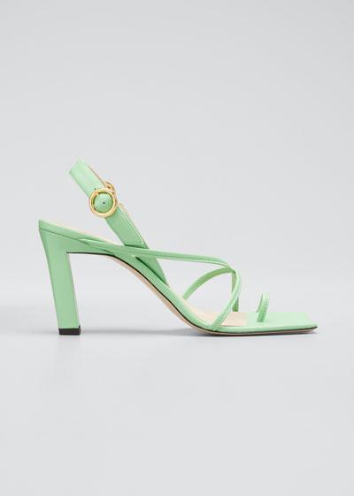Eliza Colorblock Square-Toe Sandals