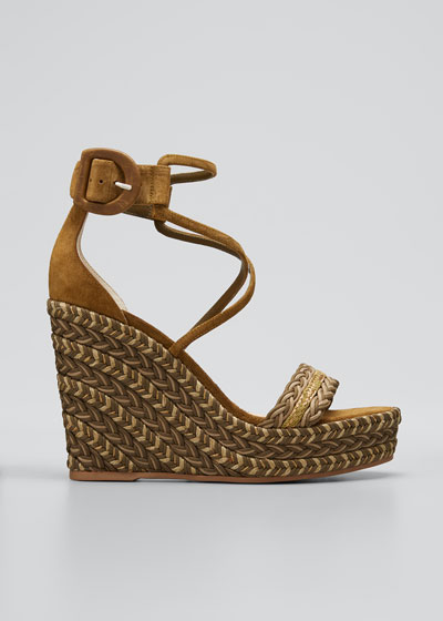 Bodrum Woven Cotton Ankle-Tie Espadrille Sandals