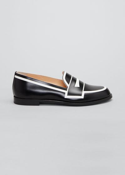 Tromoca Flat Printed Contrast Loafers