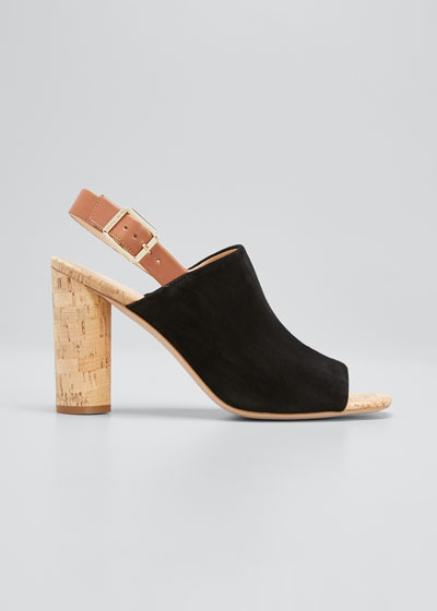 Bodhi Suede Cork-Heel Sandals