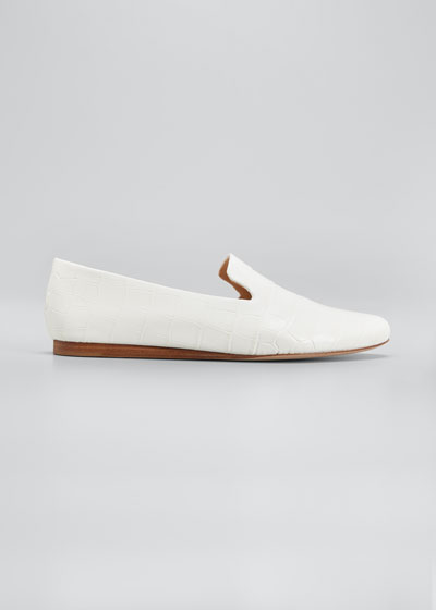 Griffin Mock-Croc Loafers