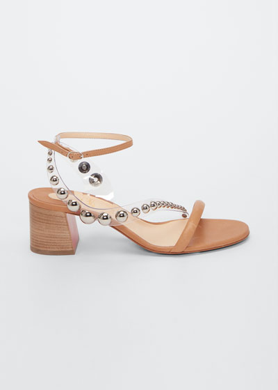 Corinne Studded Vinyl Red Sole Sandals