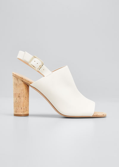 Bodhi Cork-Heel Slingback Sandals