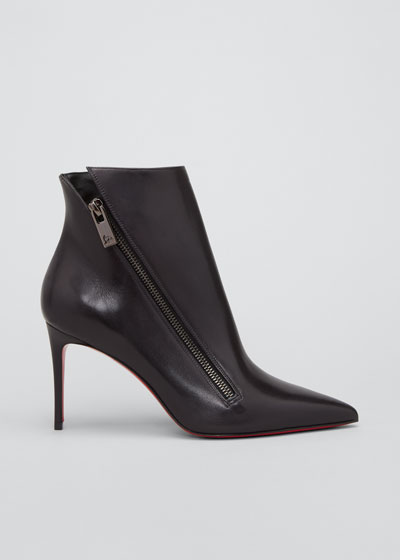 Birigkate Sleek Zip Red Sole Booties