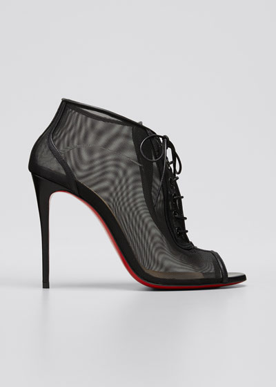 Open Ondessa Mesh & Leather Red Sole Booties