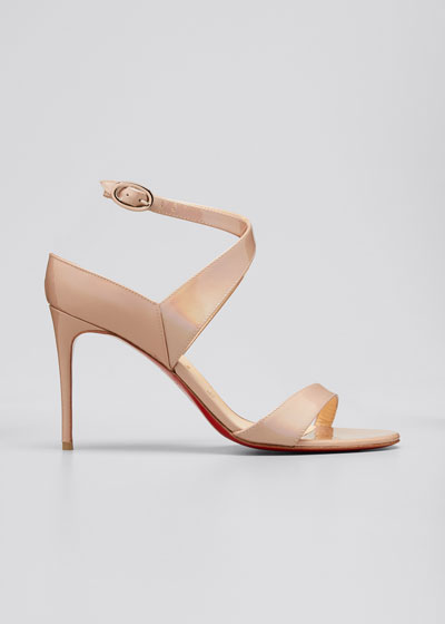 Liloo Patent Ankle-Strap Red Sole Sandals