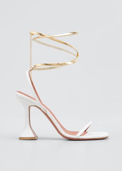 Henson Ankle-Wrap Pedestal Sandals
