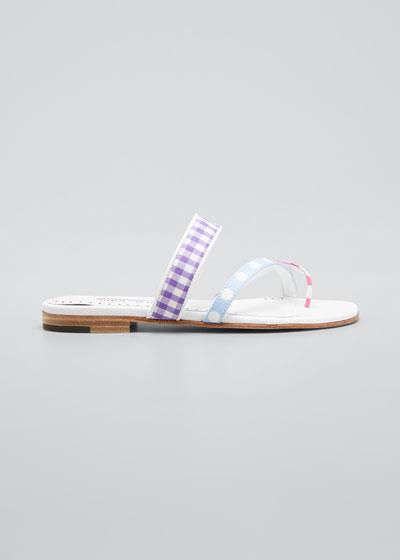Susa Flat Cotton Slide Sandals