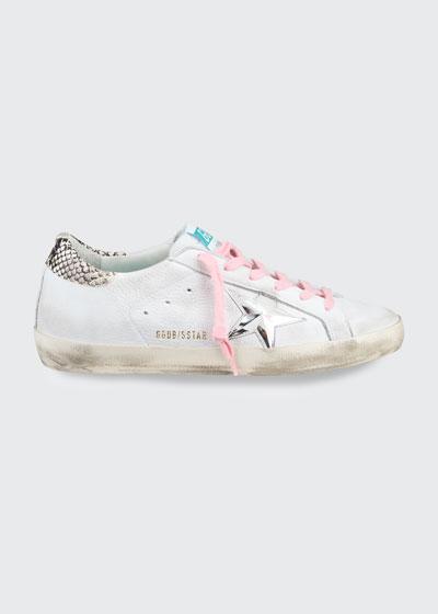 Superstar Python-Print Low-Top Sneakers