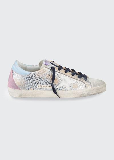 Superstar Metallic Mock-Croc Sneakers