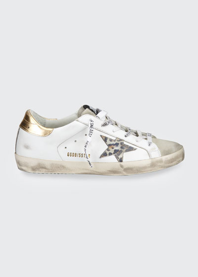 Superstar Leo-Star Leather Low-Top Sneakers