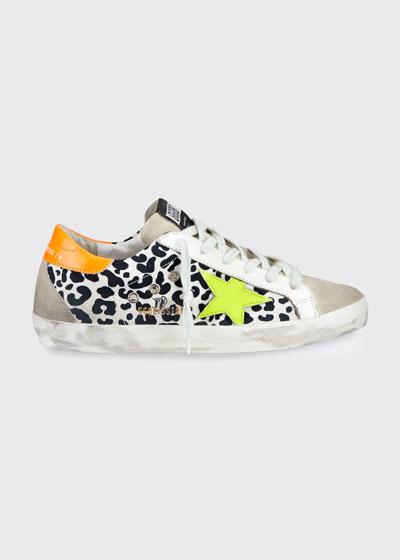 Superstar Leopard-Print Bright Sneakers
