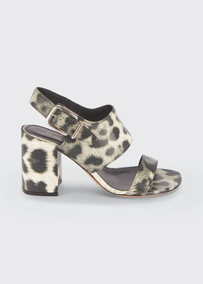 80mm Block-Heel Slingback Sandals