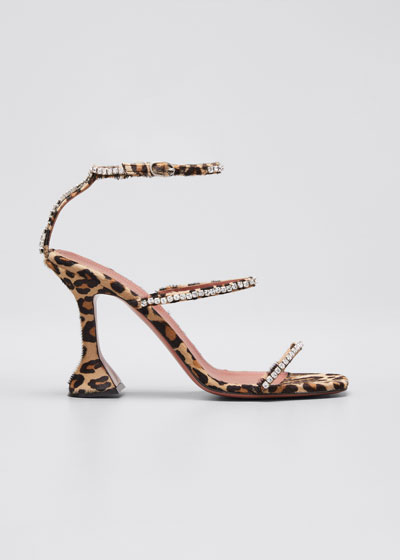 Gilda Suede and Crystal Sandals
