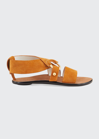 August Suede Flat Sandals