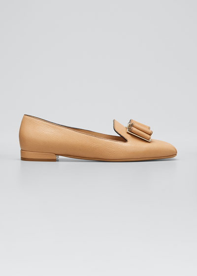 Zaneta T Bow Leather Loafers