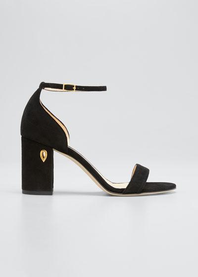 Massimo 85mm Suede Block-Heel Sandals