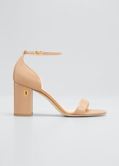 Massimo 85mm Napa Block-Heel Sandals