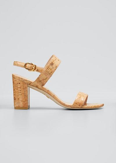 Austine Cork Two-Band Slingback Sandals