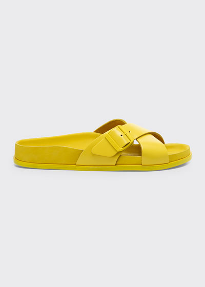 Siena Crisscross Buckle Slide Sandals