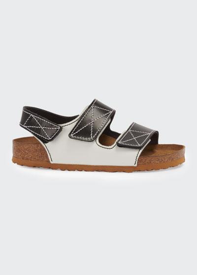 x Proenza Schouler Milano Two-Tone Slingback Sandals