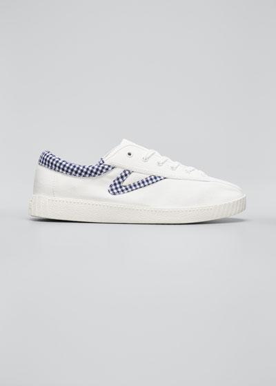 Meg Gingham Low-Top Sneakers