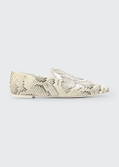 Eugenie Mixed Print Flat Loafers
