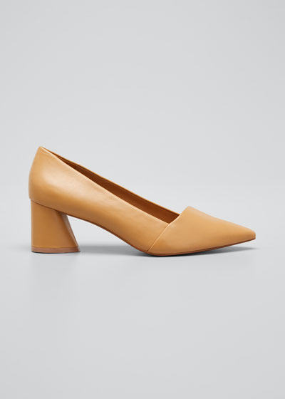 60mm Kioko Napa Block-Heel Pumps