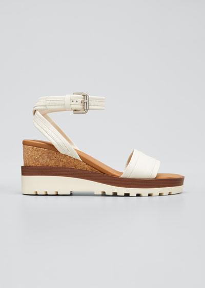 Robin 50mm Cork Ankle Strap Sandals