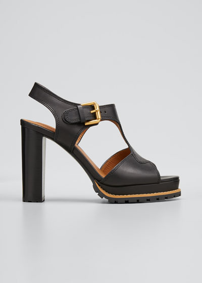 90mm Heeled Open-Toe Sandals