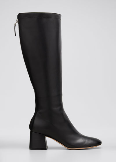 Glove Leather Tall Back-Zip Boots