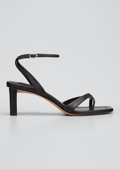 Nelly Crisscross Square-Toe Sandals