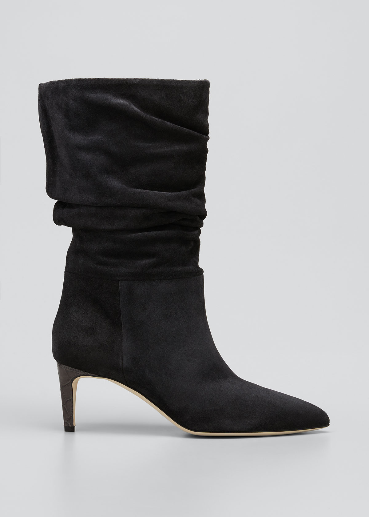 Paris Texas Suedes 60MM SLOUCHY SUEDE BOOTS