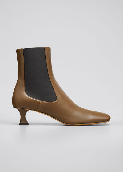50mm Sofia Lambskin Gored Ankle Booties