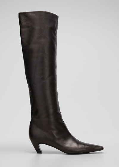 Davis Slouchy Leather Knee Boots