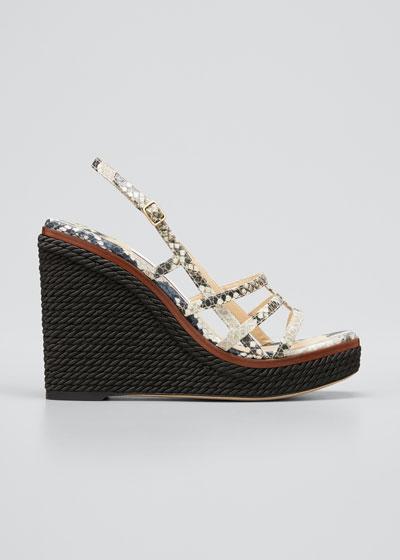 Ariella Cage Wedge Espadrille Sandals
