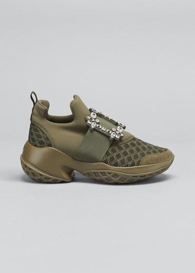 Viv' Run Crystal Buckle Sneakers