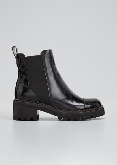 Mallory 30mm Leather Lug-Sole Chelsea Boots