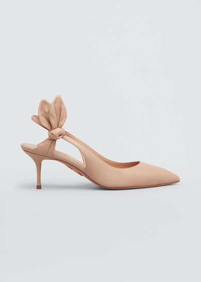 Drew 60mm Napa Bow-Back Pumps