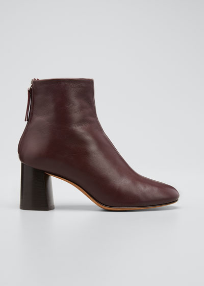 70mm Nadia Zip Ankle Boots