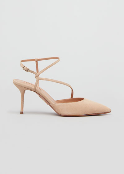 Independent Woman 75mm Suede Pumps