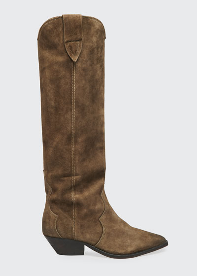 Denvee Suede Tall Western Boots